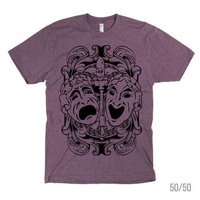 Comedy Tragedy Theatre Masks Men's or Unisex T-shirt