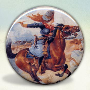 Cowgirl on Galloping Horse