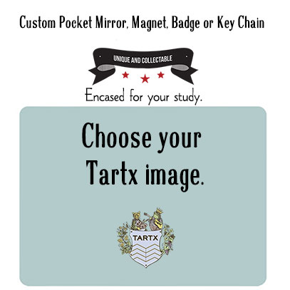 A Custom Key Chain, Mirror, Magnet or Badge From Tartx Images
