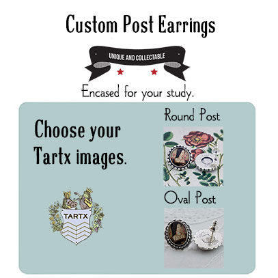 A Custom Pair of Oval or Round Post Earrings