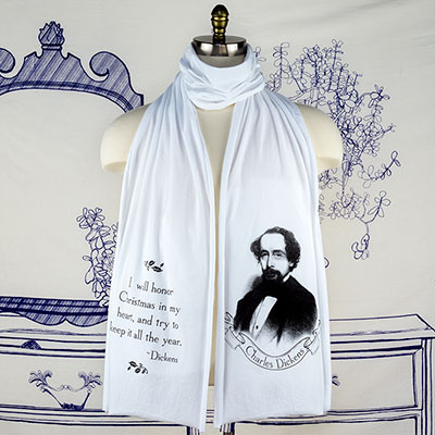 Charles Dickens Unisex Scarf - TIMT