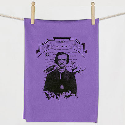 Edgar Allen Poe Flour Sack Towel