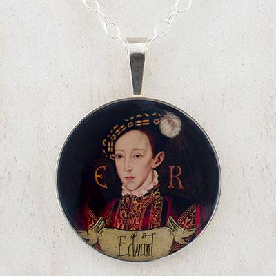 Edward VI of England Tudor Sterling Pendant