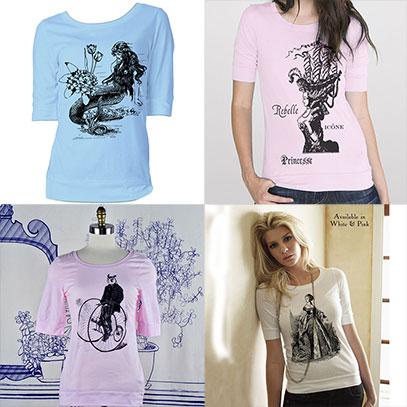 Various Designs Elbow Length T-Shirt - TIMT
