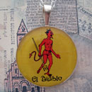Loteria El Diablo - The Devil Sterling Pendant