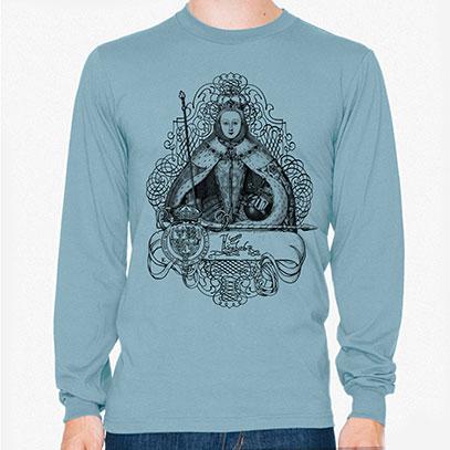 Queen Elizabeth I Men's or Unisex Organic Long Sleeve T-shirt
