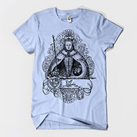 Queen Elizabeth I in Coronation Robes Men's Unisex T-shirt 50/50 and 100% Cotton