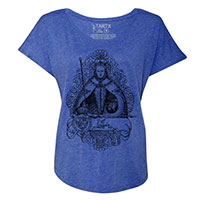 Queen Elizabeth I in Coronation Robes Tri-Blend Dolman T-Shirt -TIMT