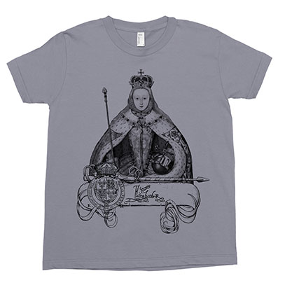 Queen Elizabeth l Kids Tee Shirt Size 2-12