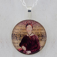 Emily Dickinson Sterling Pendant