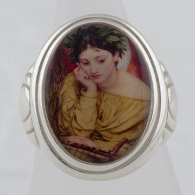 Muse Erato Cameo Style Ring