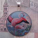 Flamingos Serene Sterling Pendant