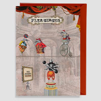 Flea Circus Greeting Card Large