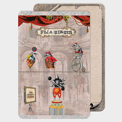 Flea Circus Postcard and Notecards