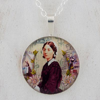 Florence Nightingale Sterling Pendant