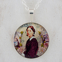 Florence Nightingale Sterling Pendant