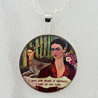 Frida and The Deer Sterling Pendant