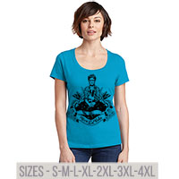 Frida Viva La Vida Perfect Weight Scoop Tee S-4XL