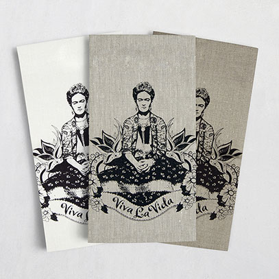 Frida Kahlo 100% linen screen printed tea towel