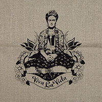Frida Viva la Vida 100% linen screen printed tea towel