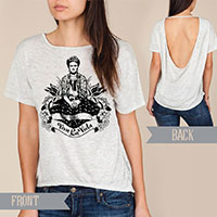 Frida Viva La Vida Alternative pony open back t-shirt