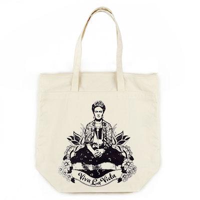 Frida Viva La Vita Organic Cotton Large Market Tote Bag