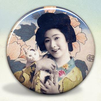 Geisha with Kitty Cat