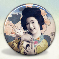 Geisha with Kitty Cat