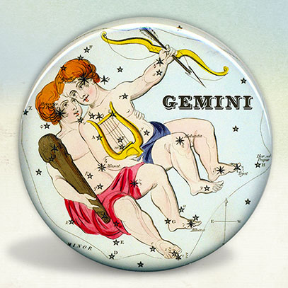 Constellation of Gemini Zodiac Sign