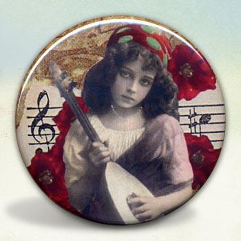 Bohemian Girl with Mandolin
