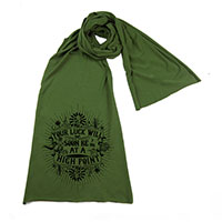 Good Fortune and Luck Screen printed Cotton Scarf