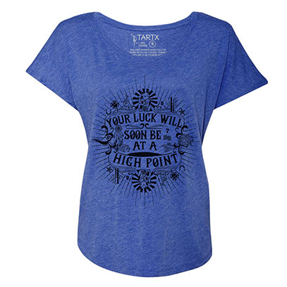 Good Fortune and Luck Tri-Blend Dolman T-Shirt