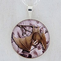 Hanging Bat Sterling Pendant