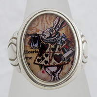 Herald Rabbit Cameo Style Ring