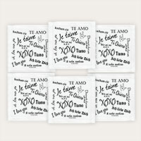 I Love You Cocktail Napkins Set of 6