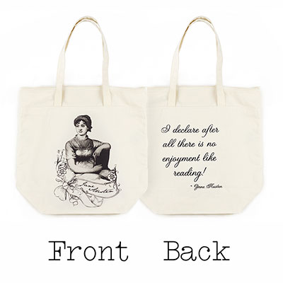 Jane Austen Organic Cotton Large Market Tote Bag