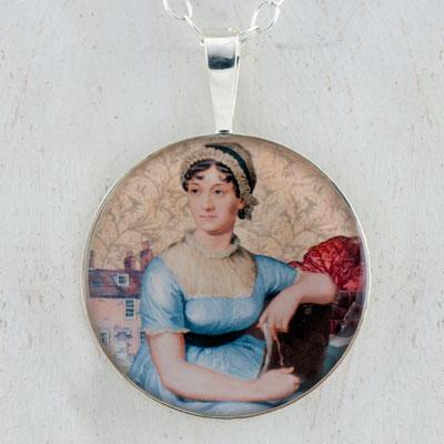 Jane Austen Sterling Pendant