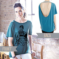 Jane Austen Alternative pony open back t-shirt