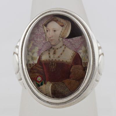 Jane Seymour Tudors Cameo Style Ring