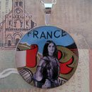Joan of Arc Sterling Pendant