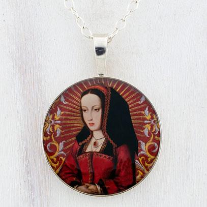 Joanna of Castile Sterling Pendant