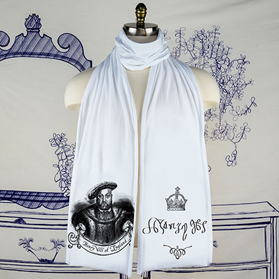 Henry Vlll King of England Scarf