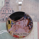Klimt The Kiss Sterling Pendant