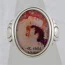 Klimt Mother and Child Cameo Style Ring
