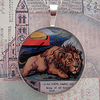 Lion Sterling Pendant