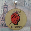 Loteria El Corazon - The Heart Sterling Pendant