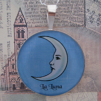 Loteria La Luna - The Moon Sterling Pendant