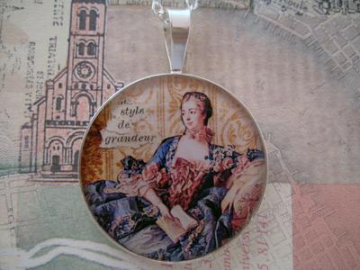 Madame de Pompadour Sterling Pendant