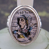 Mad Hatter Cameo Style Ring