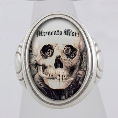 Memento Mori L'amour De Pierrot Cameo Style Ring